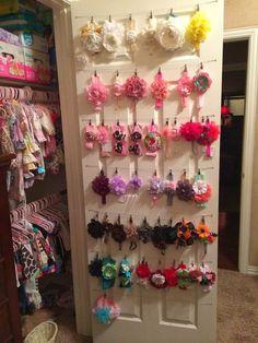 22 Ideas for baby nursery organization ideas diy headband holders Girl Nursery, Girl Room, Baby Room, Lila Baby, My Baby Girl, Baby Girl Closet, Baby Baby, Baby Girl Bows, Baby Girls