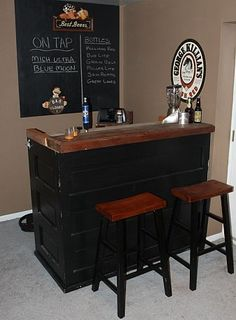 to Recycle, Re-purpose and Reuse Everything! What is a man cave without your own personal bar! Use recycled old doors to recreate this basement barWhat is a man cave without your own personal bar! Use recycled old doors to recreate this basement bar Man Cave Home Bar, Small Bars, Home, Basement Remodeling, Basement Bar, Bars For Home, Man Cave Bar, Mini Bar, Old Doors