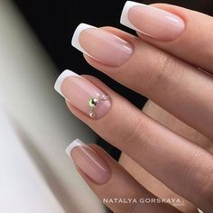 30 Awesome Picture of Super Trendy Nails, Swirl your own hair by way of your whole body motions! Nail piercing can also be rather stylish. Hence, curved nails won't be as likely to break. French Nails, French Tip Acrylic Nails, French Manicure Nails, Gel Nails, Nail Swag, Trendy Nails 2019, Curved Nails, Bridal Nail Art, Nagel Gel