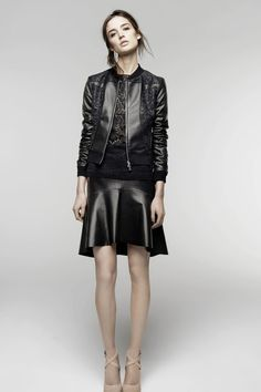 Nina Ricci | Pre-Fall 2014 Collection | Style.com  I want a leather skirt like this one.