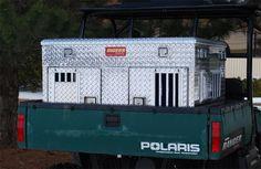Owens Pro Hunter Aluminum Double UTV Dog Box w/ Storage