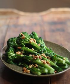 Broccolini with Pine Nuts and Garlic