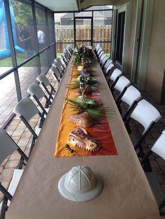 Dinosaur birthday table