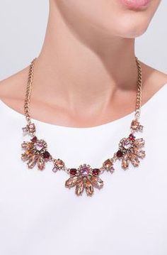 Amber Floral Necklace