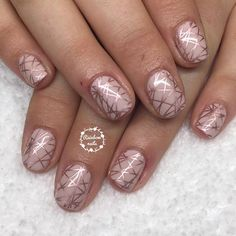 Nude with rose gold stamps