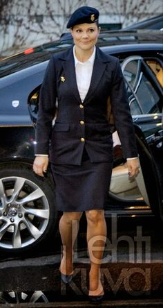Queens & Princesses - Saturday, Princess Victoria attended the 90th anniversary of the Volunteer Defence Corps women she is the godmother for several years. The ceremony took place in Skovde