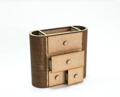 Undecorated mini commode unfinished jewelry by ZabavaBox on Etsy