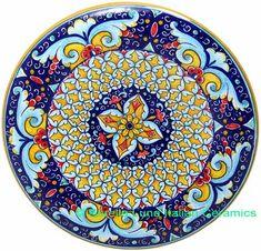 Ceramic Majolica Plate Deruta Ricco G04 Yellow 739 25cm