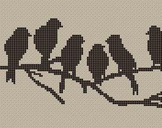 Vogels birds. Filet haken crochet
