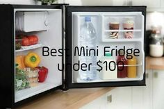 Looking for a compact yet cute Best Mini fridge under 100 dollars can be challenging yet confusing. Mini Fridge In Bedroom, Cool Mini Fridge, Slide Out Shelves, My Protein, 100 Dollar, Cubic Foot, Adjustable Legs, Compact