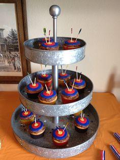 Archery cupcakes for 6YO birthday party!