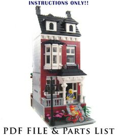 Lego Custom Modular Building House Instructions Only | eBay