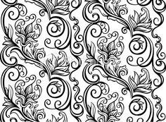 Motif, Style baroque, Fleur, Motif floral, Élégance Illustration vectorielle libre de droits