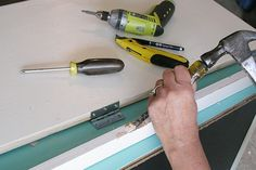 Carefully chisel out slots for the hinges.