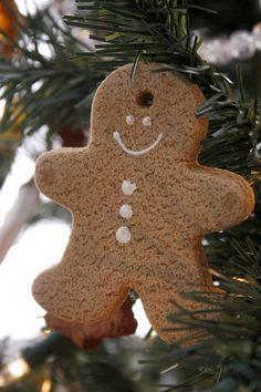 Lebkuchenmann Weihnachtsbaumanhänger aus Salzteig