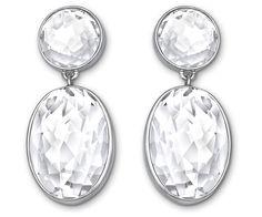 Vanilla Long Crystal Pierced Earrings