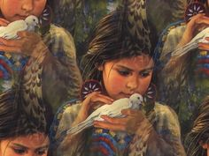 Native American Angel Tribal Picture~~ pure gentleness of Spirit Mona Lisa