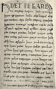 Old English: including The Lord's Prayer in West Saxon, and pronunciation info