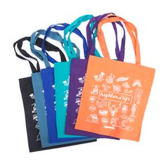 Tote bags don't have to be natural! We screen print on pretty much every coloured tote under the sun! Custom Totes, Custom Tote Bags, Be Natural, Printed Tote Bags, School Bags, Fashion Bags, Screen Printing, Shopping Bag, Reusable Tote Bags