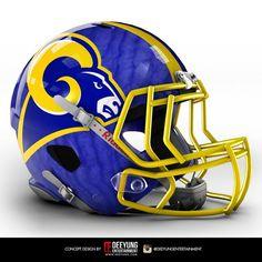NFL Concept Helmets by Imgur | St. Louis Rams