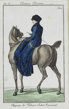 1804-05 An 13 Costume Parisien Plate No 611 riding habit