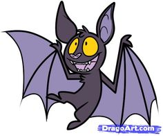 today we will learn how to draw a cartoon bat bats are a fear creature but bats are harmless and very valuable to nature - Bat Cartoon