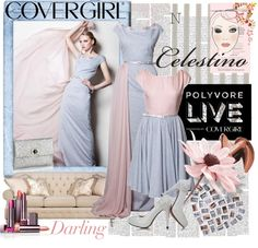 """Polyvore Live and COVERGIRL Present Celestino"" by laynaelyse ❤ liked on Polyvore"
