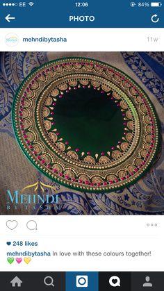 Rangoli Designs, Mehndi Designs, Thali Decoration Ideas, Sequin Crafts, Henna Candles, Homemade Wedding Gifts, Scrapbook Cover, Mehndi Decor, Japanese Gifts