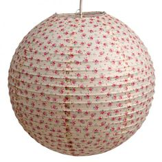 Pretty Ditsy Rose Paper Shade £6