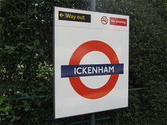 Ickenham London Underground Station in Ickenham, Greater London
