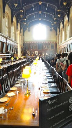 Dining Hall at Christchurch College, AKA The Great Hall from Harry Potter, Oxford, England
