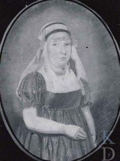 Portret van een onbekende vrouw 1800-1824 Amsterdam, Amsterdam Museum, inv./cat.nr. A510 #NoordHolland #Waterland