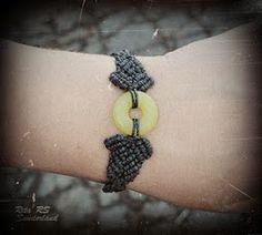 black hemp jade bracelet   #macrame