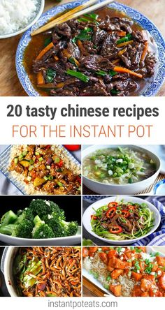 20 Instant Pot Chinese Recipes For Every Taste - Instant Pot Eats 20 Tasty Chinese Recipes For Instant Pot - Char Siu Pork, Kung Pao Chicken, Fried Rice, Congee and more. Instant Pot Chinese Recipes, Instant Pot Dinner Recipes, Instant Pot Asian Recipes, Recipes Dinner, Pork Recipes, Chicken Recipes, Cooking Recipes, Recipies, Instant Pot Pressure Cooker