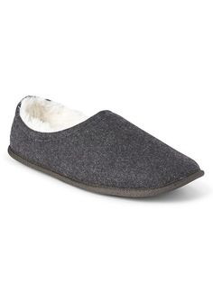 Gap Mens Cozy Wool Slippers Heather Grey