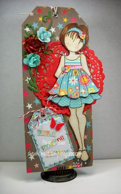She Who Must Stamp: Prima Doll Tag and Bottle Cap Charm