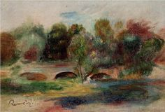 Landscape with Bridge - Pierre-Auguste Renoir