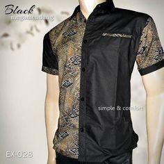 BATIK SERAGAM, Baju Batik Modern, BLACK MEGAMENDUNG, Batik Pria, Men's Batik, Seragam Batik Kantor, https://instagram.com/batik_kombinasi, WA : 08222 128 3456