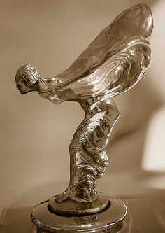 Spirit of Ecstasy Rolls Royce Hood Ornament..Re-pin..Brought to you by #agentsofInsurance at #HouseofInsurance in #EugeneOregon 97401, 97402, 97403, 97404, 97405