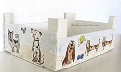 Katzelkraft Les Chiens stamps - Clementine wooden box with dogs