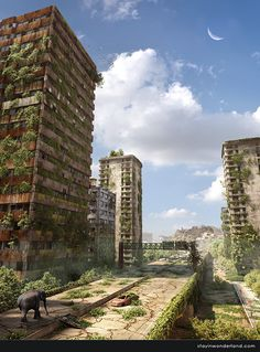 Post Apocalyptic Ruined City in Stunning Post Apocalypse Artworks