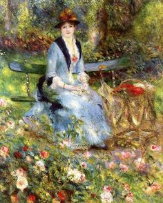 Among the Roses, 1882 ~ Pierre-Auguste Renoir ~ (French: 1841-1919)