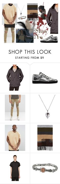 """Shan Yu Disneybounding"" by bemused-toni ❤ liked on Polyvore featuring Orobos, SHAN, Balenciaga, Sik Silk, ASOS, The Men's Store, Ann Demeulemeester, Konstantino, men's fashion and menswear"