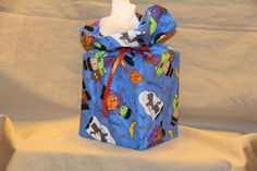 Halloween Kids Monsters 100% cotton fabric tissue box cover fabric gift bag cube #Handmade