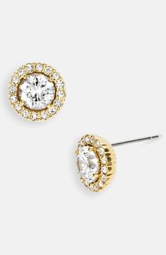 Nadri Round Cubic Zirconia Stud Earrings available at #Nordstrom