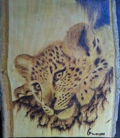 Leopards pyrography | very well done..... | Pyrography | Pinterest