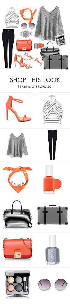 """#noname"" by lady-sybill-vimes on Polyvore featuring мода, Chicwish, Armani Jeans, Hermès, Essie, Kate Spade, Globe-Trotter, Michael Kors, Chanel и Monki"