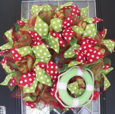 Summer Wreath, Deco Mesh, Door Hanger, Summer Decoration, Front Door Wreath by OccasionsBoutique on Etsy