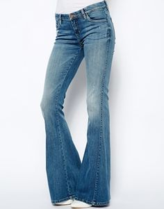 Blank NYC Skinny Flared Jeans With Distressing