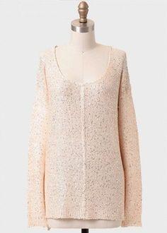 Seeking Grace Sequined Sweater, $38.99, shopruche.com